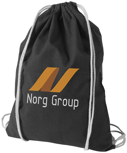 Cotton drawstring bag black