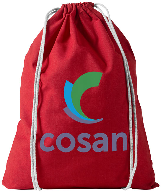Cotton drawstring bag red