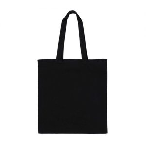 Black 8oz Canvas with Gusset Front
