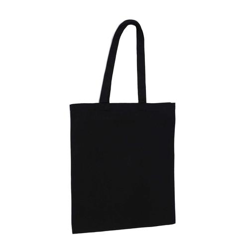 Black 8oz Canvas Bag Side