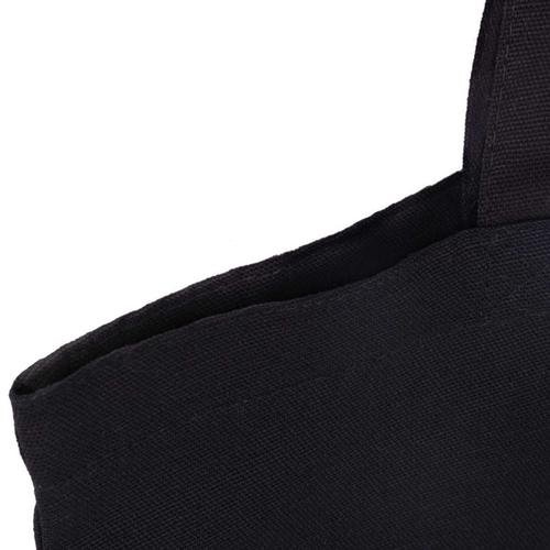 Black 8oz Canvas Bag Top