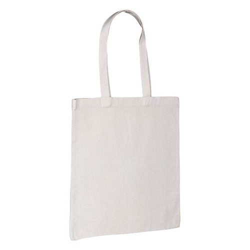 Natural 8oz Canvas Bag Side