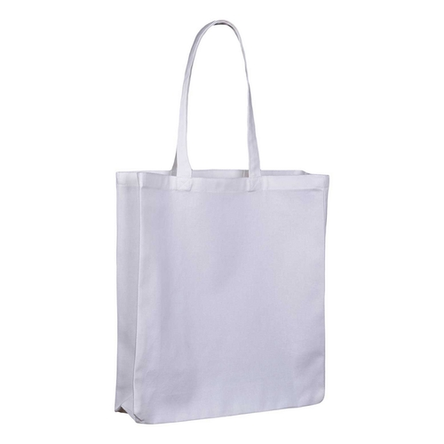 White 10oz Canvas Bag with Gusset Side