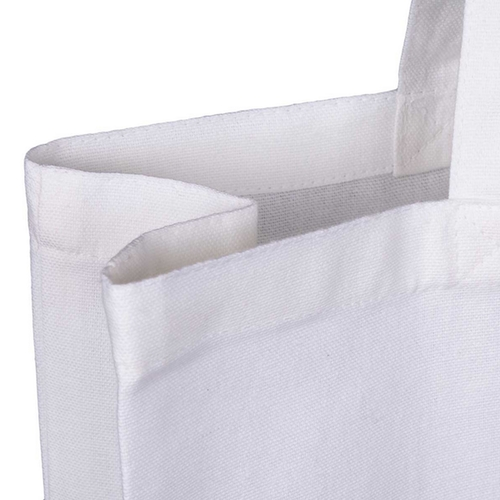 White 10oz Canvas Bag with Gusset Top