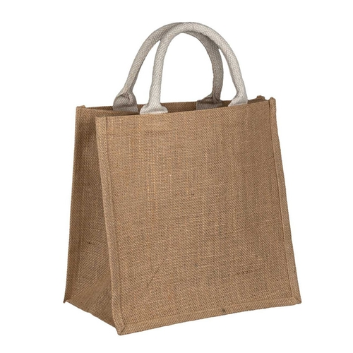 Natural Jute Bag Small Side
