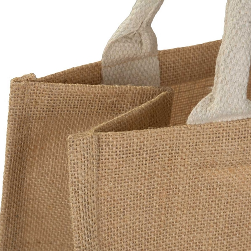 Natural Jute Bag Small Top