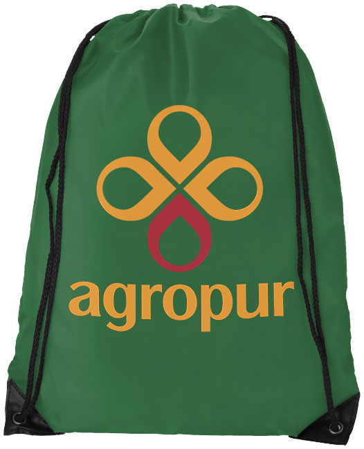 Bright Green Drawstring Bag