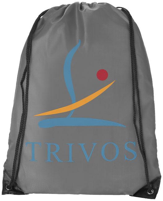 Light Grey Drawstring Bag