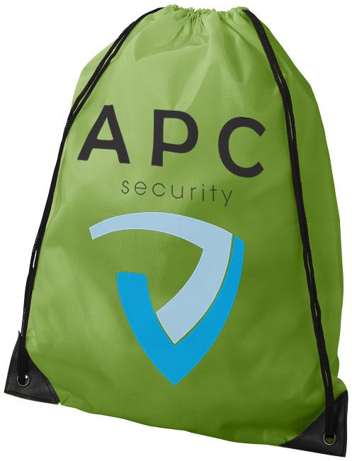 Lime Green Drawstring Bag