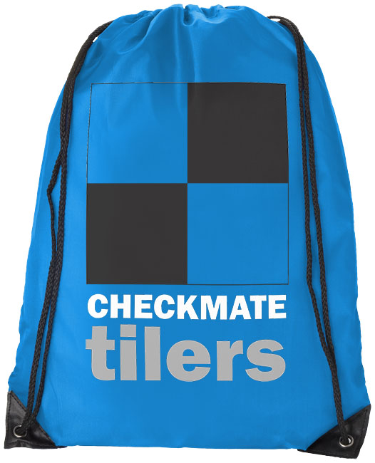 Blue Drawstring Bag