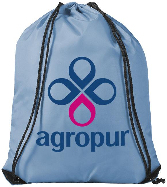 Sky Blue Drawstring Bag