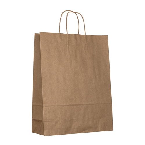 Large Brown Kraft Bag Side