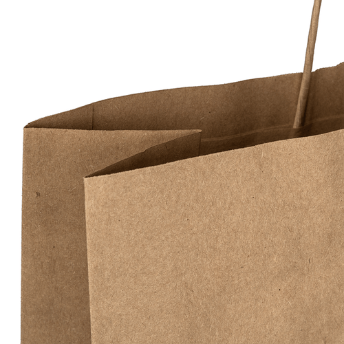 Large Brown Kraft Bag Top