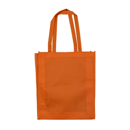 Orange non woven bag