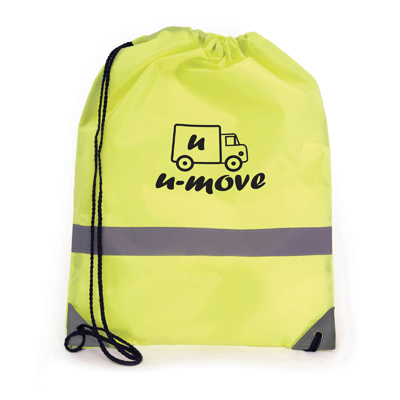 Reflective drawstring bag yellow
